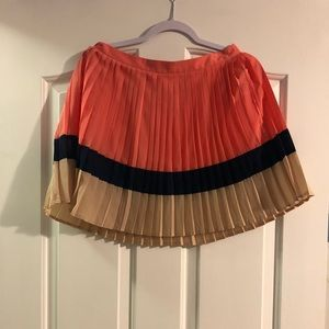 Tri color pleated skirt